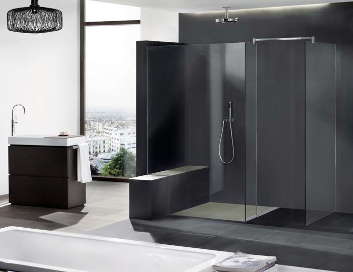 begehbare dusche bauen duschen regen dusche and modern on. Black Bedroom Furniture Sets. Home Design Ideas