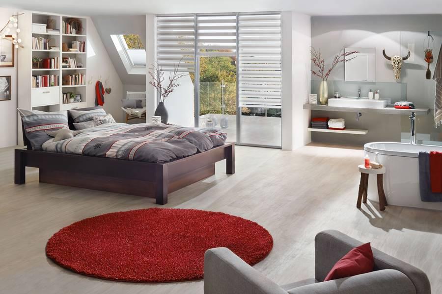 Das Moderne Schlafzimmer Mit Bad En Suite