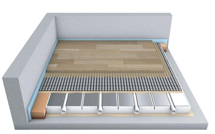 der moderne aufbau einer fussbodenheizung bei verklebtem. Black Bedroom Furniture Sets. Home Design Ideas